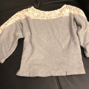 Cropped Grey with Lace Top